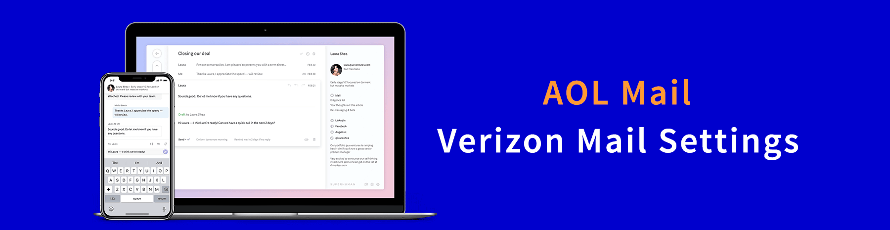 AOL Verizon Mail Settings