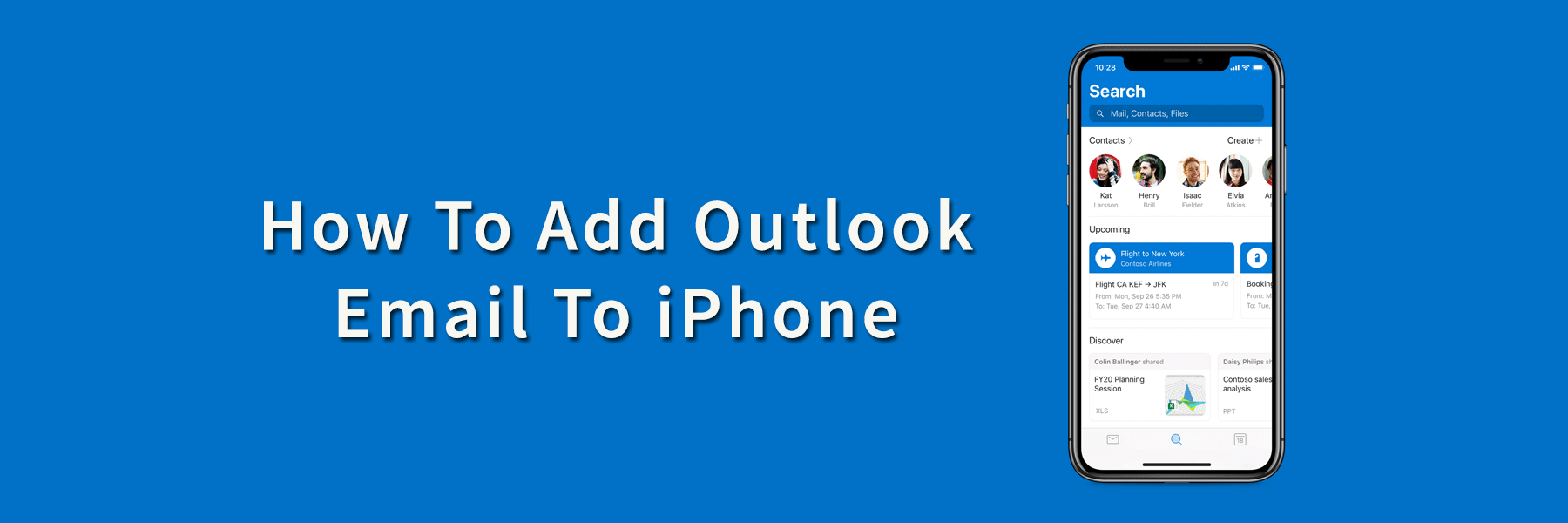 How To Add Outlook Email To iPhone?