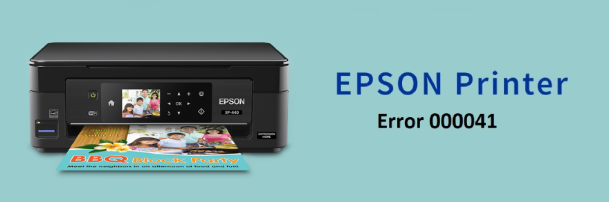 Fix Epson Printer Error 000041